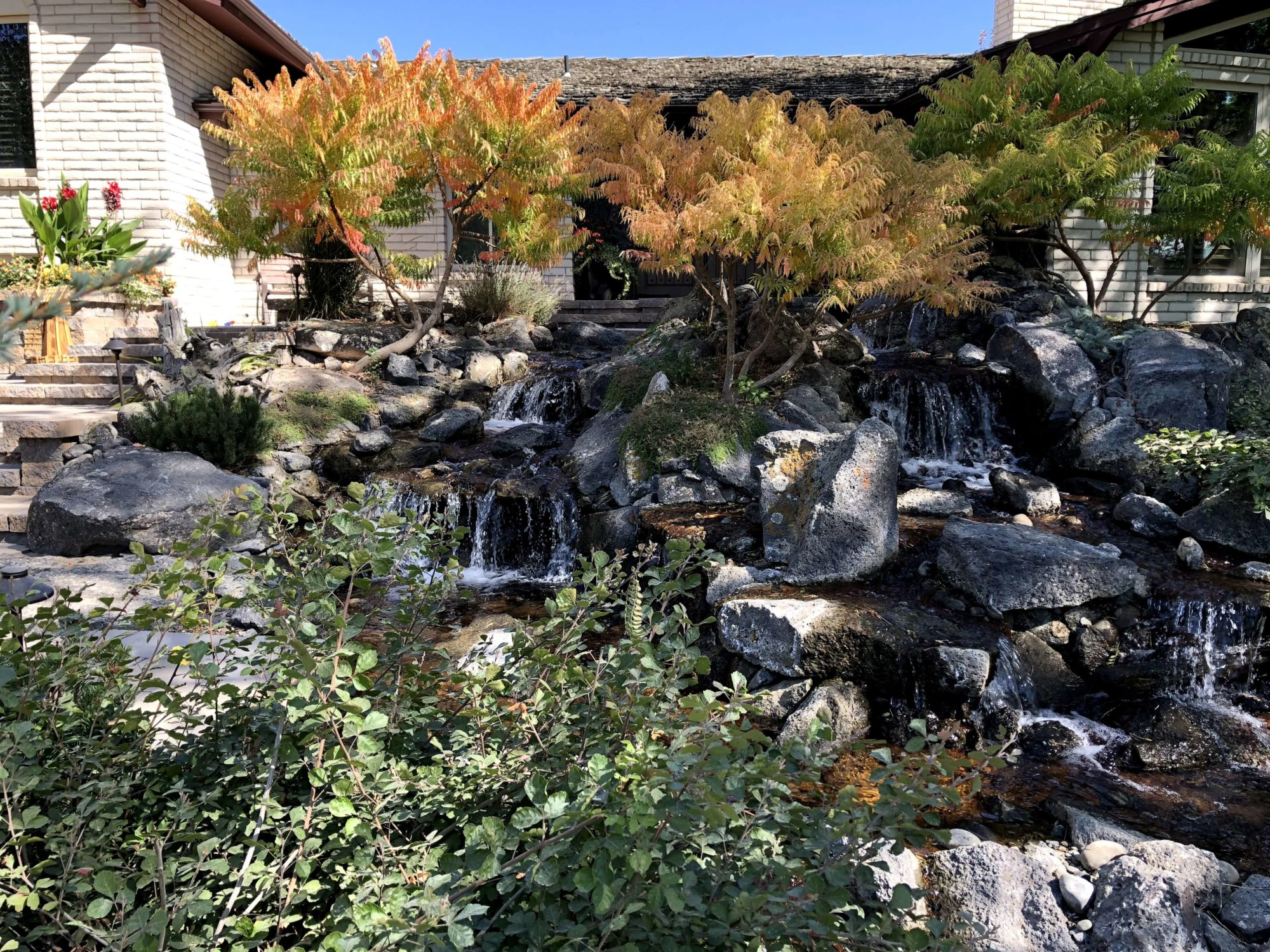 landscaping waterfall design