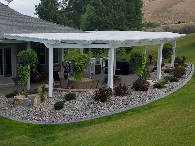 Beautiful finished landscaping
